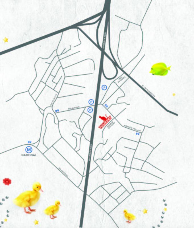 Plan Théâtre Toursky
